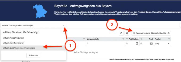 Grossansicht in neuem Fenster: Verfahrensschritte BayBeVe - ZWOK